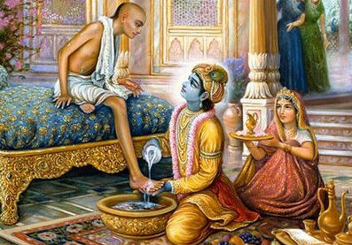 Lord Krishna Washed Sudama's Feet